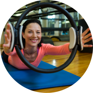 Pilates by Natalie utilises up-to-date equipment such as toning circles in privately taught classes.